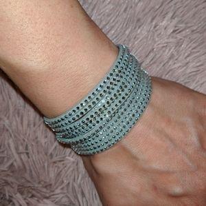 *SWARVOSKI* Crystal&Leather bracelet ❄️💮